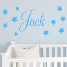 Personalised Children's Star Name Wall Sticker Decal